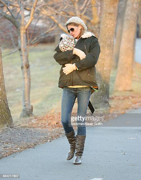 Gisele Bundchen and Vivian Brady are seen on December 07, 2013 in Boston, Massachusetts.