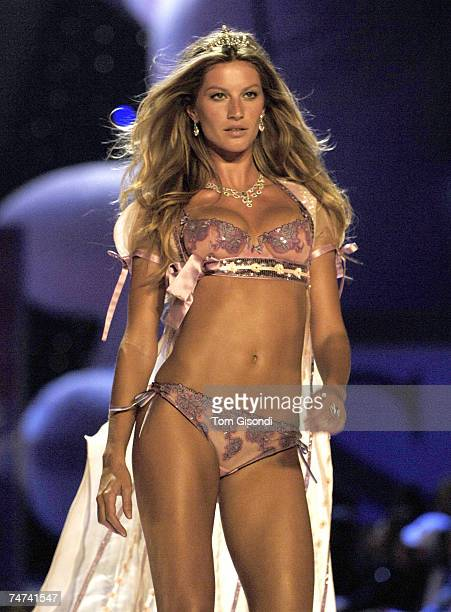 Gisele Bundchen at the 10th Victoria's Secret Fashion Show Runway at Lexington Avenue Armory in New York City New York
