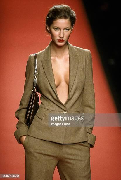 Gisele Bundchen at the Carolina Herrera Fall 1999 show circa 1999 in New York City