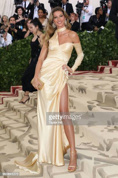 Gisele Bundchen attends Heavenly Bodies Fashion the Catholic Imagination the 2018 Costume Institute Benefit at Metropolitan Museum of Art on May 7...