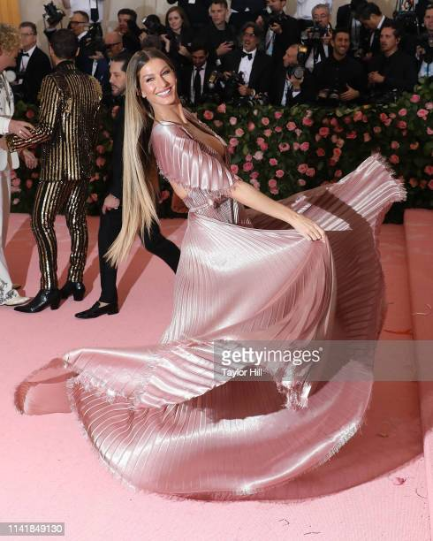 Gisele Bundchen attends the 2019 Met Gala celebrating Camp Notes on Fashion at The Metropolitan Museum of Art on May 6 2019 in New York City