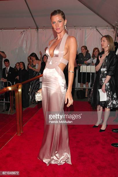 Gisele Bundchen attends THE COSTUME INSTITUTE GALA SUPERHEROES with honorary chair GIORGIO ARMANI at The Metropolitan Museum of Art on May 5 2008 in...