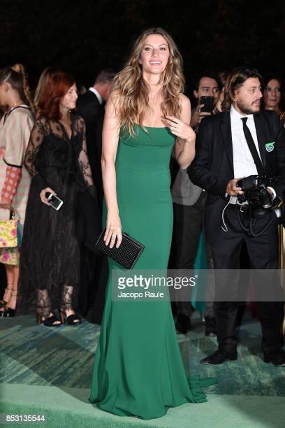 Gisele Bundchen attends the Green Carpet Fashion Awards Italia 2017 during Milan Fashion Week Spring/Summer 2018 on September 24 2017 in Milan Italy