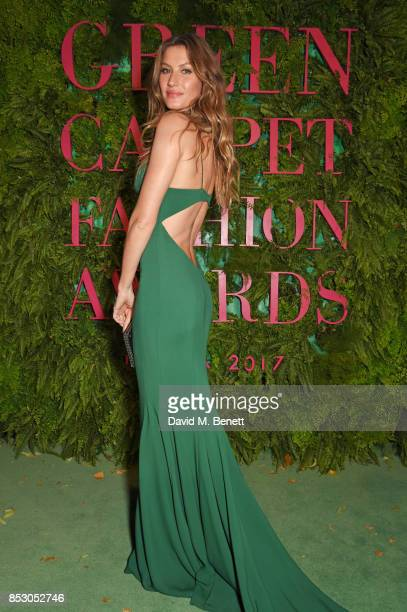 Gisele Bundchen attends the Green Carpet Fashion Awards Italia wearing Stella McCartney for the Green Carpet Challenge at Teatro Alla Scala on...