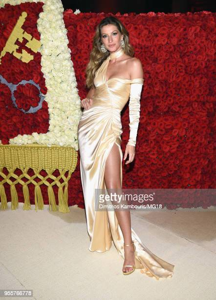 Gisele Bundchen attends the Heavenly Bodies: Fashion & The Catholic Imagination Costume Institute Gala at The Metropolitan Museum of Art on May 7,...