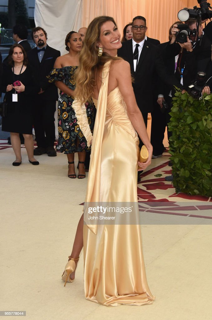 Gisele Bundchen attends the Heavenly Bodies: Fashion & The Catholic Imagination Costume Institute Gala at The Metropolitan Museum of Art on May 7, 2018 in New York City.