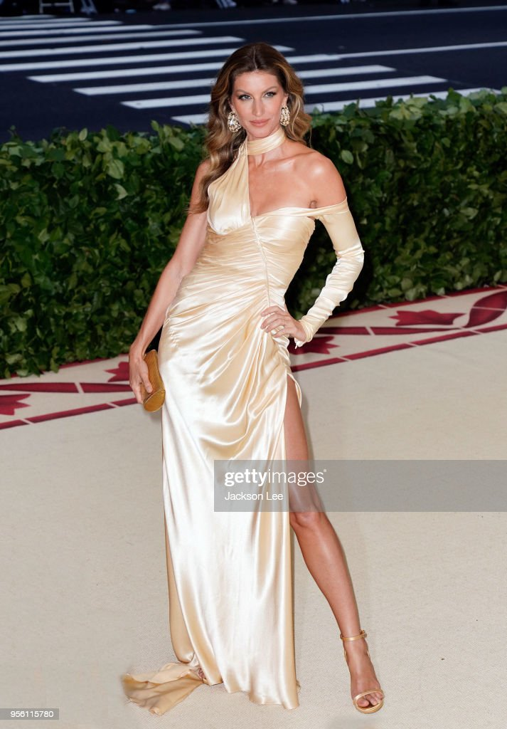Gisele Bundchen attends the Heavenly Bodies: Fashion & The Catholic Imagination Costume Institute Gala at Metropolitan Museum of Art on May 7, 2018 in New York City.