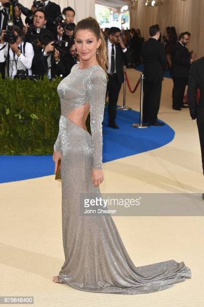 Gisele Bundchen attends the Rei Kawakubo/Comme des Garcons Art Of The InBetween Costume Institute Gala at Metropolitan Museum of Art on May 1 2017 in...