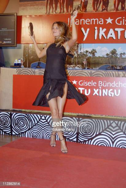 Gisele Bundchen during Gisele Bundchen Launches 'IpanemaGisele Bundchen Y Ikatu Xingu' Footwear Collection at Ritz Hotel in Madrid Spain