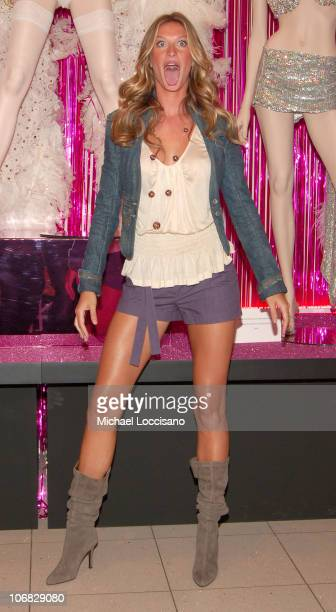 Gisele Bundchen during Gisele Bundchen Unveils The Victoria's Secret Fashion Show Exhibit 'Ten Years of Sexy' at Victoria's Secret Herald Square in...