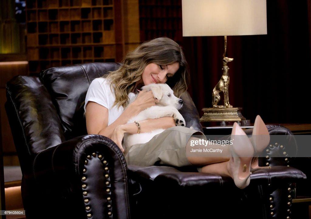 "Gisele Bundchen Visits ""The Tonight Show Starring Jimmy Fallon"""