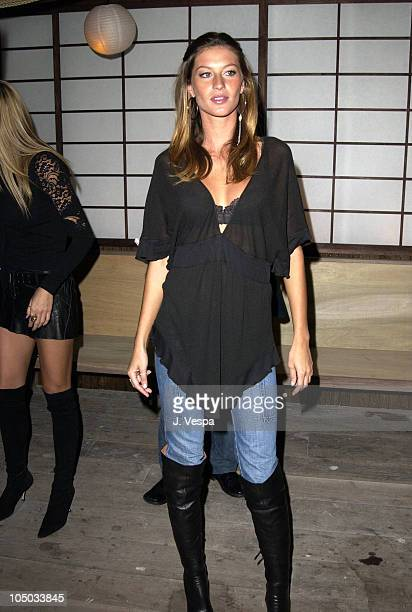 Gisele Bundchen during Victoria's Secret and Interview Magazine's SEXY Book Launch at Maritime Hotel in New York City New York United States