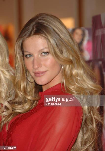Gisele Bundchen during Victoria's Secret Angels Share Their Favorite Holiday Gift Picks Inside at Victoria's Secret Store in Los Angeles California...