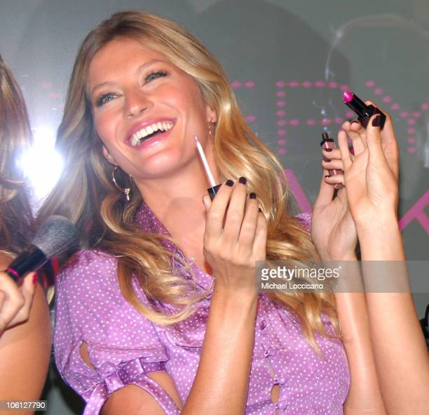 Gisele Bundchen during Victoria's Secret Introduces 'Very Sexy Makeup' at Victoria's Secret Flagship Store Herald Square in New York City New York...