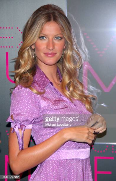 Gisele Bundchen during Victoria's Secret Introduces Very Sexy Makeup at Victoria's Secret Flagship Store Herald Square in New York City New York...