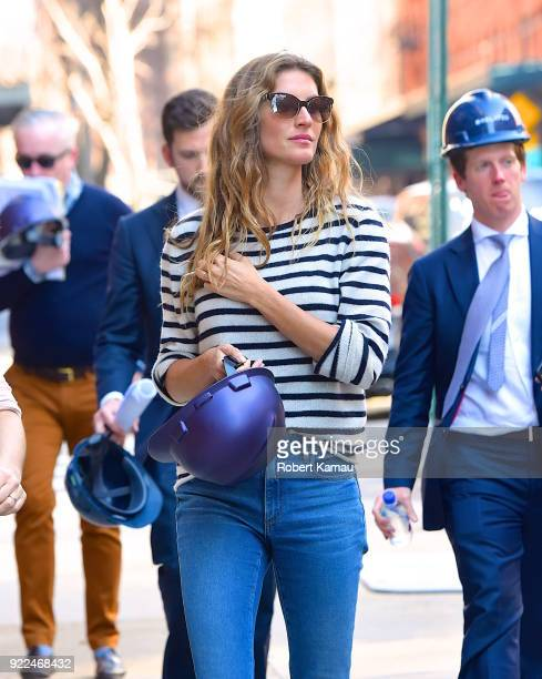Gisele Bundchen is seen in Manhattan on February 21 2018 in New York City