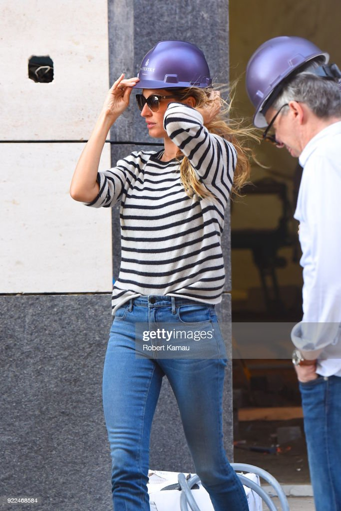 Gisele Bundchen is seen in Manhattan on February 21, 2018 in New York City.