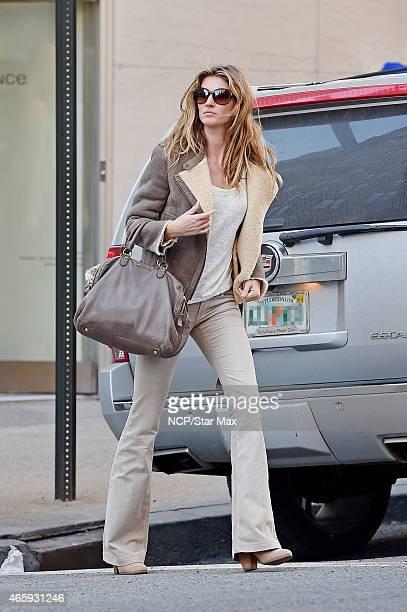 Gisele Bundchen is seen on March 11 2015 in New York City