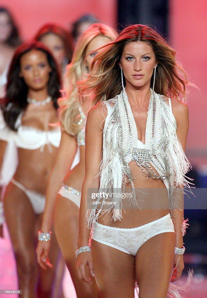 Gisele Bundchen leads models wearing Swarovski embellished garments by Victoria's Secret
