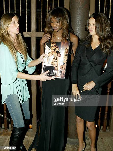 Gisele Bundchen Oluchi Onweagba and Adriana Lima during Victoria's Secret Backstage Sexy Photo Book Preview AfterParty at Spice Market in New York...