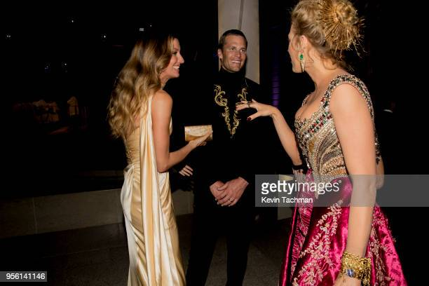 Gisele Bundchen, Tom Brady, and Blake Lively attend the Heavenly Bodies: Fashion & The Catholic Imagination Costume Institute Gala at The...