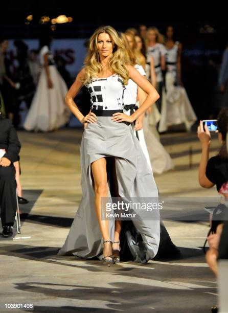 Gisele Bundchen walks the runway during Fashion's Night Out The Show at Lincoln Center on September 7 2010 in New York City
