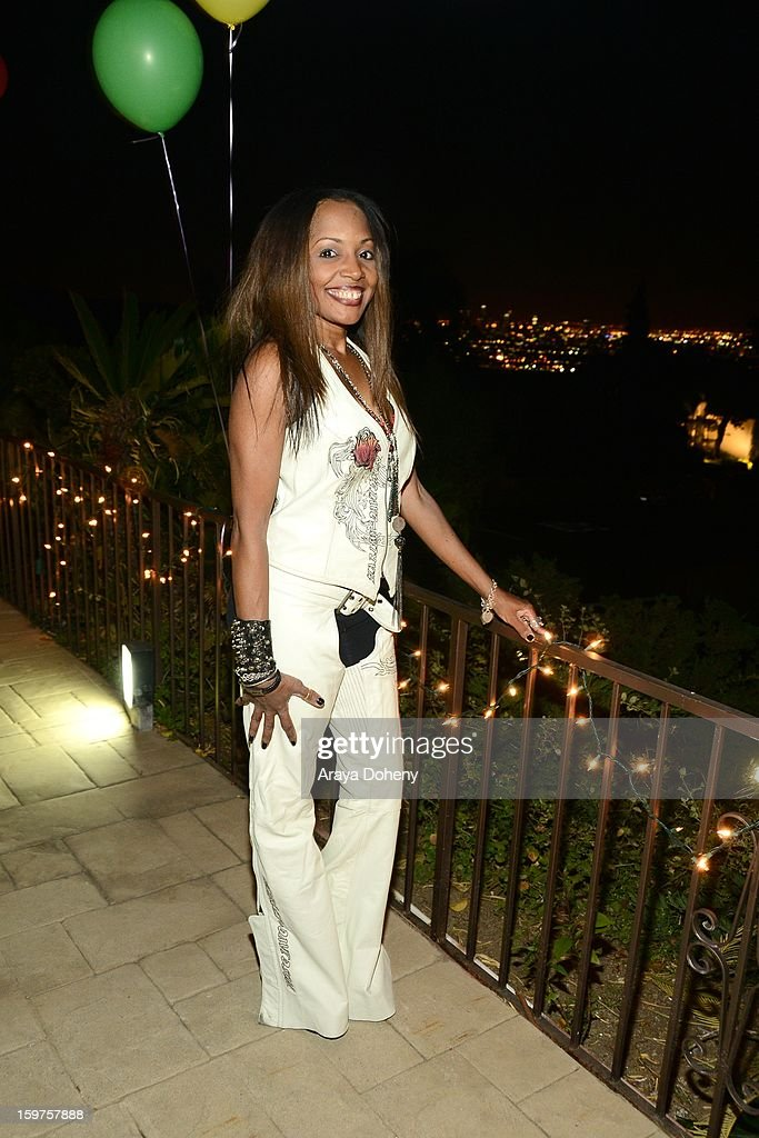 Gisele Rebeiro wearing Bartels Harley Davidson, Bad Azz Shoes and KD Luxe Jewelry attends Zhavea's 21st Birthday Bash At A Private Mansion In Hollywood event on January 19, 2013 in Hollywood, California.