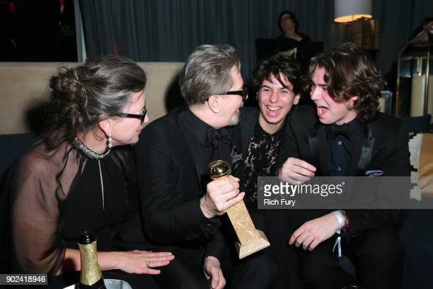 Gisele Schmidt actor Gary Oldman Charlie John Oldman and Gulliver Flynn Oldman attend Focus Features Golden Globe Awards After Party on January 7...