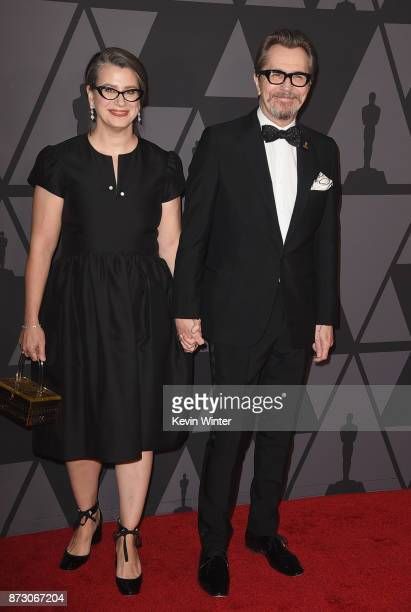 Gisele Schmidt and Gary Oldman attend the Academy of Motion Picture Arts and Sciences' 9th Annual Governors Awards at The Ray Dolby Ballroom at...
