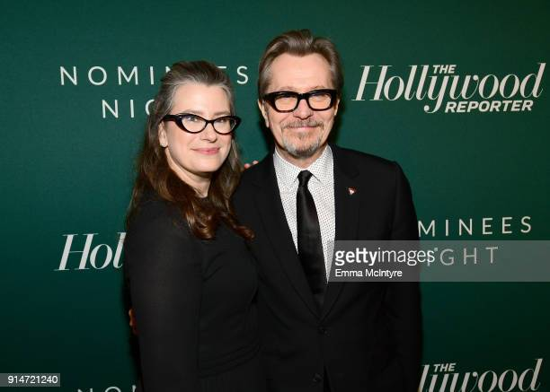 Gisele Schmidt and Gary Oldman attend The Hollywood Reporter 6th Annual Nominees Night at CUT on February 5 2018 in Beverly Hills California