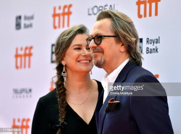 Gisele Schmidt and Gary Oldman attend the North American Premiere of 'The Laundromat' at the The Princess of Wales Theatre on September 09 2019 in...