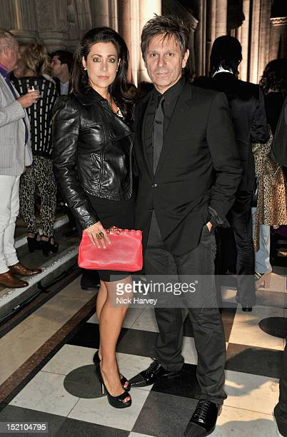 Gisella Bernales and Andrew Roger Taylor attends the front row for the Philip Treacy show on day 3 of London Fashion Week Spring/Summer 2013 at The...