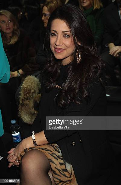 Gisella Bernales attend Roberto Cavalli fashion show as part of Milan Fashion Week Womenswear Autumn/Winter 2011 on February 26 2011 in Milan Italy
