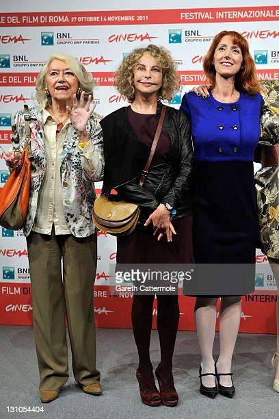 Gisella Sofio Sydne Rome and Rita Carlini attend the Il Cuore Grande Delle Ragazze Photocall during the 6th International Rome Film Festival on...