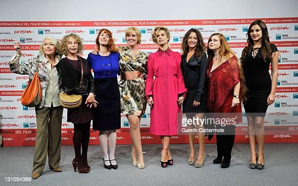 Gisella Sofio Sydne Rome Rita Carlini Manuela Morabito Micaela Ramazzotti Stefania Barca Sara Pastore and Isabelle Adriani attend the Il Cuore Grande...