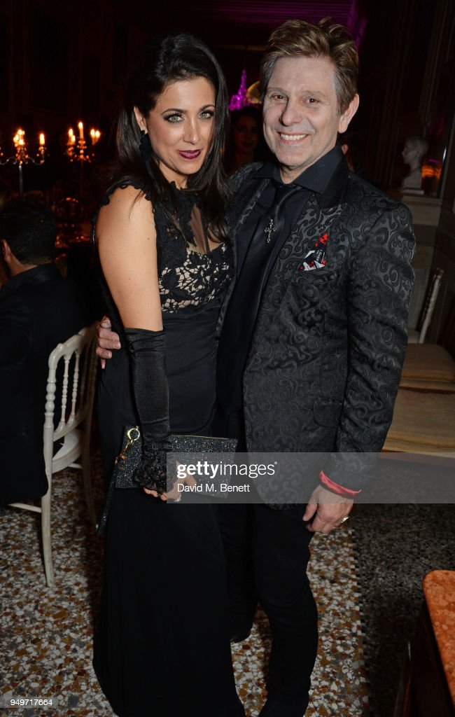 Gisella Taylor (L) and Roger Taylor attend a party to celebrate Nefer Suvio's birthday hosted by The Count and Countess Francesco & Chiara Dona Dalle Rose at Palazzo Dona dalle Rose on April 20, 2018 in Venice, Italy.