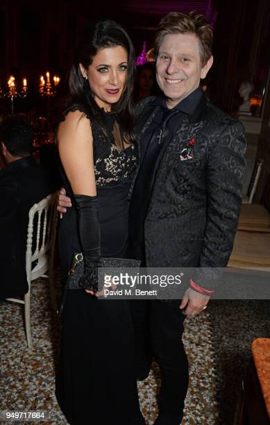 Gisella Taylor and Roger Taylor attend a party to celebrate Nefer Suvio's birthday hosted by The Count and Countess Francesco Chiara Dona Dalle Rose...