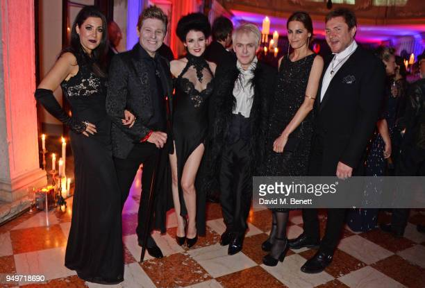 Gisella Taylor Roger Taylor Nefer Suvio Nick Rhodes Yasmin Le Bon and Simon Le Bon attend a party to celebrate Nefer Suvio's birthday hosted by The...