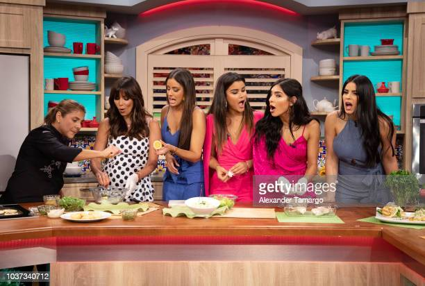 Giselle Blondet Aleyda Ortiz Clarissa Molina Alejandra Espinoza and Vanessa de Roide are seen on the set of 'Despierta America' at Univision Studios...