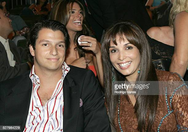 Giselle Blondet and Alejandro Grimaldi during 2005 Premios Juventud Awards Show at University of Miami Convocation Center in Miami Florida United...