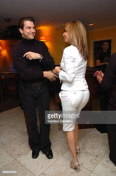 Giselle Blondet and boyfriend Alejandro Grimaldi dance at a benefit dinner for St Jude Children's Hospital on February 28 2006 in Miami Beach Florida