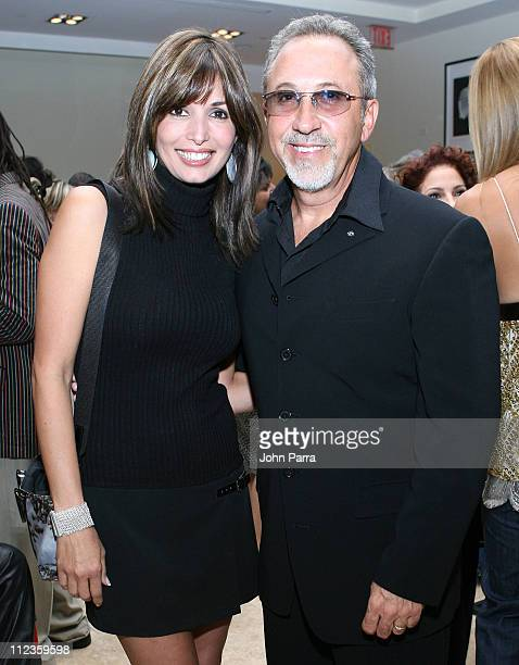 Giselle Blondet and Emilio Estefan during Mayda Cisneros Couture Collection Grand Opening at The Collection Building in Coral Gables, Florida, United...