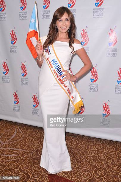 Giselle Blondet poses for photographers during the NPRDP Scholarship Fundraiser Gala at New York Hilton Midtown on June 10, 2016 in New York City.