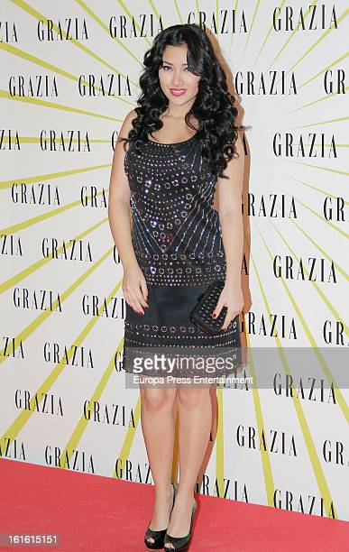 Giselle Calderon attends Grazia Magazine launch party at Circo Price Theatre on February 12 2013 in Madrid Spain