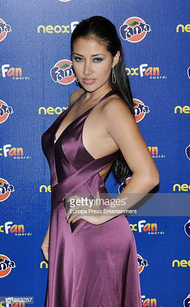 Giselle Calderon attends Neox Fan Awards 2012 photocall at La Latina Theatre on October 23 2012 in Madrid Spain