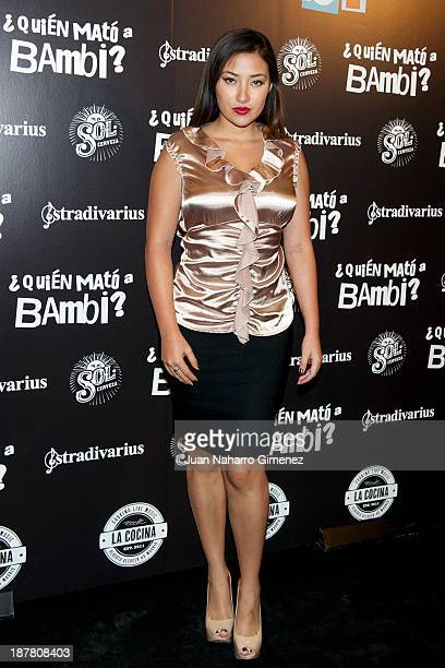 Giselle Calderon attends 'Quien Mato a Bambi' premiere at La Cocina Rock Bar on November 12 2013 in Madrid Spain