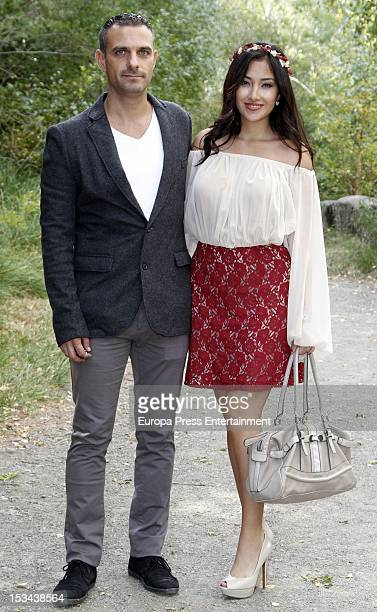 Giselle Calderon attends the wedding of Juan Pablo Shuk and Ana De La Lastra on September 22 2012 in Biescas Spain