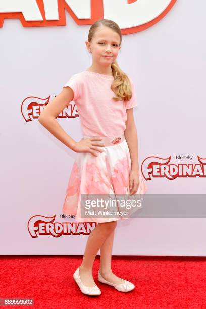 Giselle Eisenberg attends the screening of 20th Century Fox's 'Ferdinand' at Zanuck Theater at 20th Century Fox Lot on December 10 2017 in Los...