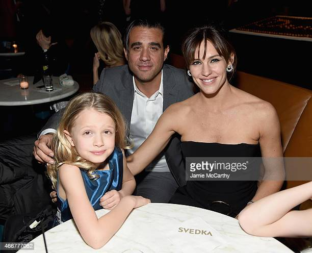 Giselle EisenbergBobby Cannavale and Jennifer Garner attend the Danny Collins New York Premiere after party at the Stone Rose Lounge on March 18 2015...