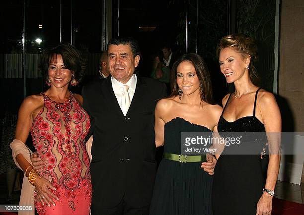 Giselle Fernandez Haim Saban Jennifer Lopez and Cheryl Saban